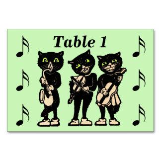 Notes vintages de musique de chats noirs de musici