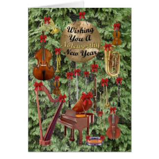Noteworthy New Year Card