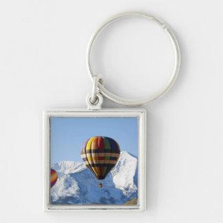 Noth America, USA, Colorado, Mt. Crested Butte, Silver-Colored Square Keychain