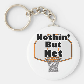 nothin but net basketball hoop keychain