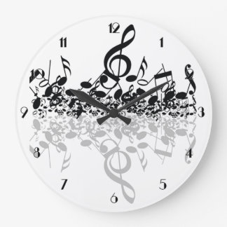 Nothin' But Treble Music Notes Wall Clock