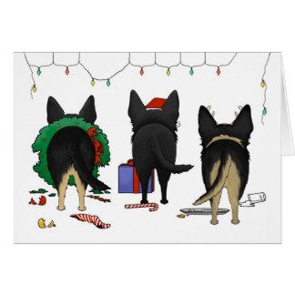Nothin' Butt A German Shepherd Christmas Card