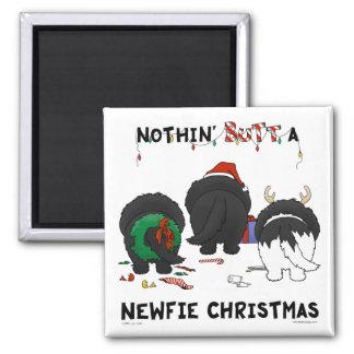Nothin' Butt A Newfie Christmas Magnet