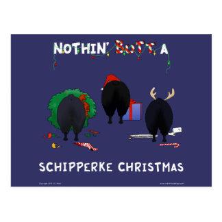 Nothin' Butt A Schipperke Christmas Postcard
