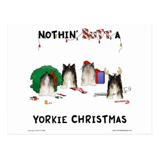 Nothin' Butt A Yorkie Christmas Postcard