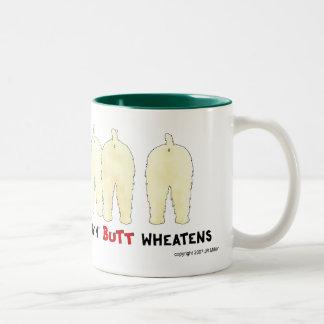 Nothin' Butt Wheatens Two-Tone Coffee Mug