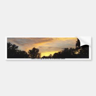 Nothing As Pretty As Kentucky Sunset Car Bumper Sticker