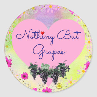 Nothing But Grapes Sticker