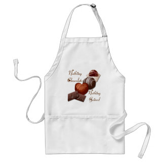 NOTHING CHOCOLATE NOTHING GAINED STANDARD APRON