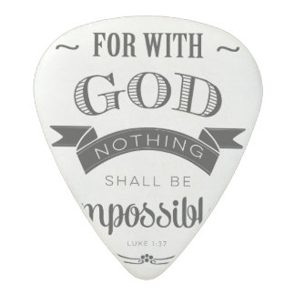 Nothing is Impossible Acetal Guitar Pick