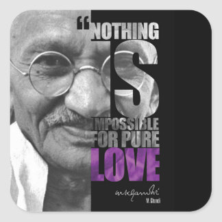 Nothing Is Impossible Ghandi Sticker