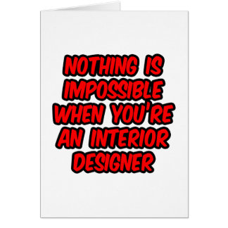 Nothing Is Impossible...Interior Designer Card