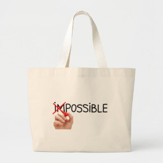 Nothing is Impossible Large Tote Bag