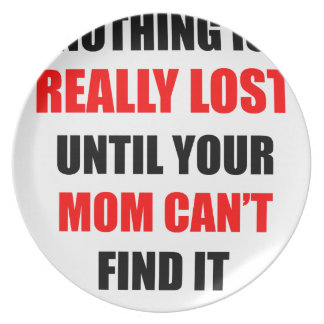 Nothing Is Really Lost Until Your Mom Can't Find Plate