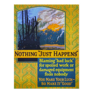 """Nothing """"Just Happens"""" Poster"""
