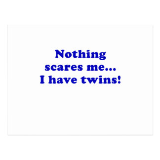 Nothing Scares me I Have Twins Postcard