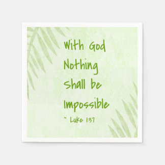 Nothing Shall Be Impossible Palm Paper Napkin
