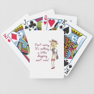 NOTHING SHOPPING WONT CURE BICYCLE PLAYING CARDS