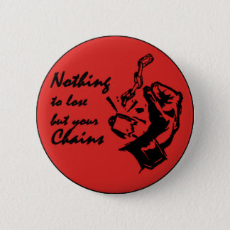 Nothing to lose but your chains 2 inch round button