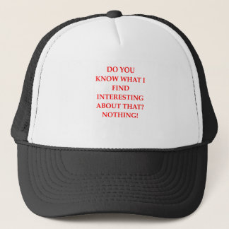 NOTHING TRUCKER HAT