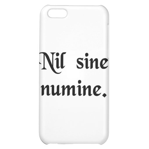 Nothing without the Divine Will. Cover For iPhone 5C