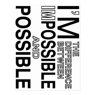 Nothings Impossible Postcard