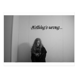 Nothing's wrong... postcard
