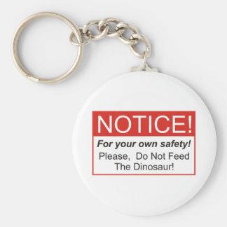 Notice / Dinosaur Keychain