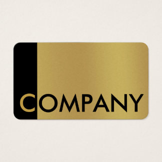 Noticeable brushed gold and black business card