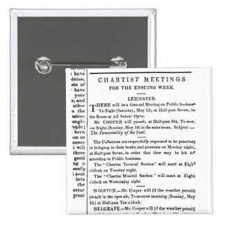 Notices for Chartist Meetings Buttons
