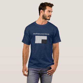 #notmypresident t-shirt b&w w/flag