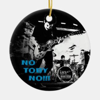 NoTobyNo Round Ceramic Ornament