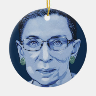 Notorious RBG II Ceramic Ornament