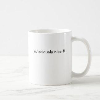 notoriously nice coffee mug