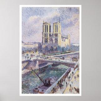 Notre Dame, 1899 Maximilien Luce Poster