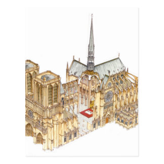 Notre-Dame Cathedral. Paris France Postcard