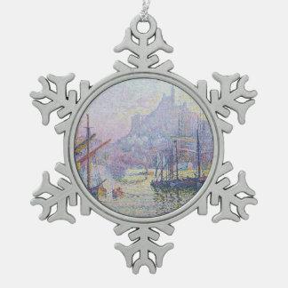Notre-Dame-de-la-Garde La Bonne Mere Snowflake Pewter Christmas Ornament