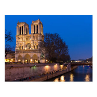 Notre Dame during Twilight Postcard