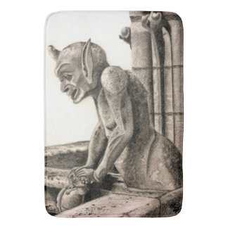 Notre Dame Gargoyle - The Watcher Bath Mat