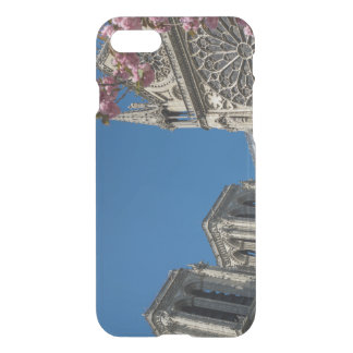Notre Dame in Paris, France with Spring Flowers iPhone 7 Case