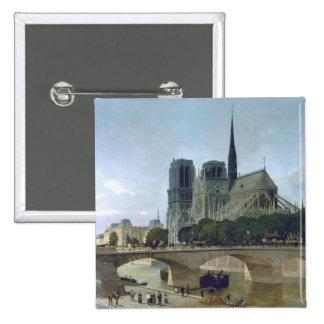 Notre Dame, Paris, 1884 2 Inch Square Button