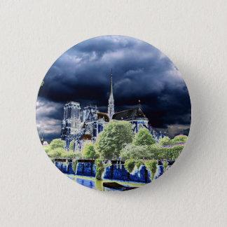 Notre Dame, Paris 4 2 Inch Round Button