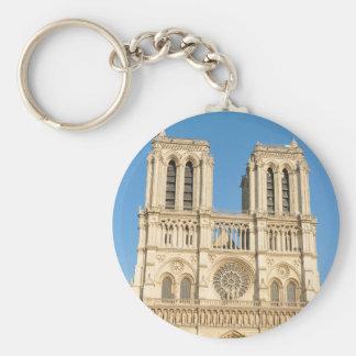 Notre Dame, Paris Basic Round Button Keychain
