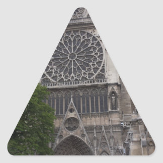 Notre Dame, Paris, France Triangle Sticker