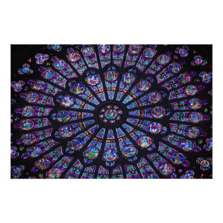Notre Dame Rose Window Poster