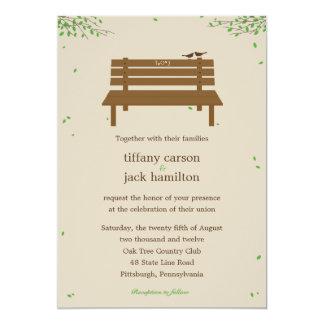 Notre faire-part de mariage de banc carton d'invitation  12,7 cm x 17,78 cm