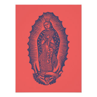 Notre Madame de Guadalupe Perfect Poster