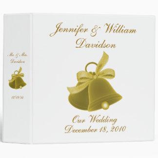 """""""Notre mariage Bells de mariage"""" - Classeurs Vinyle"""