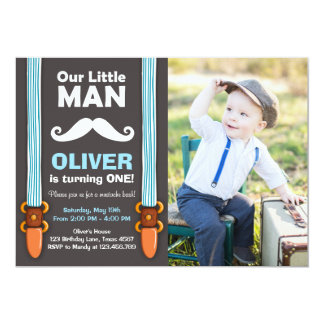 Notre petite cravate d'arc de garçon d'invitation carton d'invitation  12,7 cm x 17,78 cm