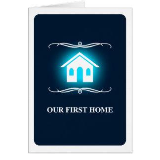 notre premier à la maison (maison de mod) carte de correspondance